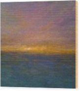 Mayflower Beach Sunset Wood Print