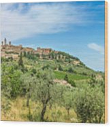 Medieval Town Of San Gimignano, Tuscany, Italy Wood Print