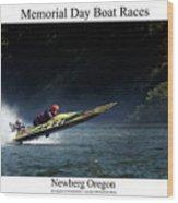 Memorial Day Boat Races Wood Print