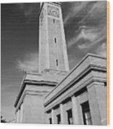 Memorial Tower - Lsu Bw Wood Print