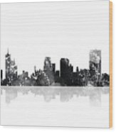 Memphis Tennessee Skyline Wood Print