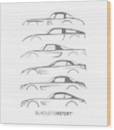 Mercy Sports Car Silhouettehistory Wood Print