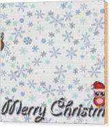 Christmas Card 8 Wood Print