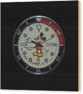 Mickey Mouse Watch Face Wood Print