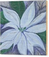 Midnight Poinsettia Wood Print