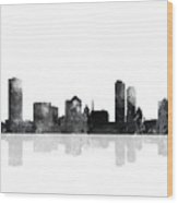 Milwaukee Wisconsin Skyline Wood Print