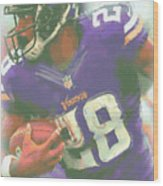 Minnesota Vikings Adrian Peterson Wood Print