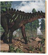 Miragaia Dinosaur - 3d Render Wood Print