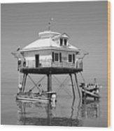 Mobile Bay Lighthouse Wood Print