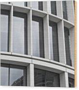 Modern Office Building Wood Print