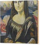 Mona Lisa Wood Print