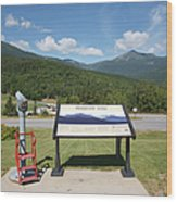 Mount Washington Valley - Gorham New Hampshire Usa Wood Print