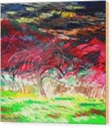 Mt. Norwottuck And Apple Trees Wood Print