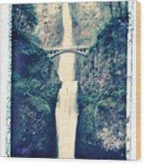 Multnoma Falls Wood Print by Joe  Palermo