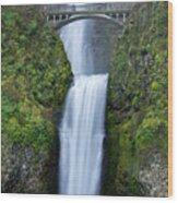 Multnomah Falls Waterfall Oregon Columbia River Gorge Wood Print by Dustin K Ryan