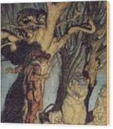 Mystical Forest Wood Print