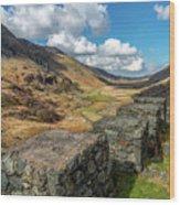 Nant Ffrancon Pass Snowdonia Wood Print