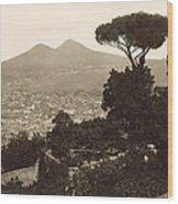 Naples: Mt. Vesuvius Wood Print