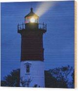 Nauset Lighthouse Night Wood Print