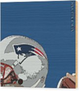 New England Patriots Original Typography Football Team Wood Print
