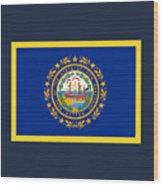 New Hampshire Flag Wood Print
