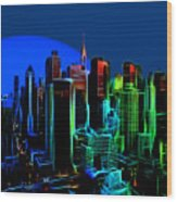New York Colors Wood Print