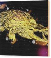 Nile River Crocodile Wood Print