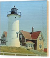 Nobska Point Lighthouse Wood Print