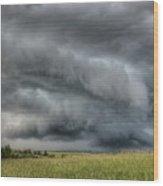 North Dakota Thunderstorm Wood Print