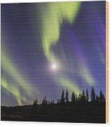 Northern Lights Thingvellir Wood Print