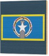 Northern Marianas Flag Wood Print