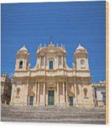 Noto, Sicily, Italy - San Nicolo Cathedral, Unesco Heritage Site Wood Print