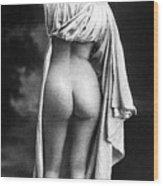 Nude Posing: Rear View Wood Print