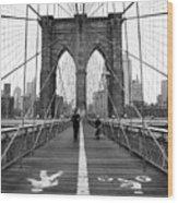 Nyc Brooklyn Bridge Wood Print
