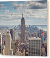 NYC Empire Wood Print