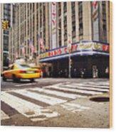 Nyc Radio City Music Hall Wood Print