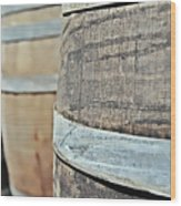 Oak Wine Barrel Wood Print