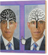 Obama Trees Of Knowledge Wood Print