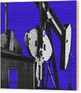 Oil Well Pump #3 Wood Print