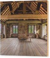 Old House Interior Wood Print