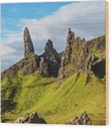 Old Man Of Storr, Isle Of Skye, Scotland Wood Print