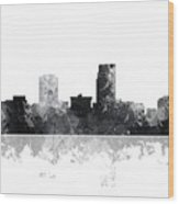 Omaha Nebraska Skyline Wood Print