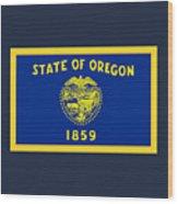 Oregon Flag Wood Print