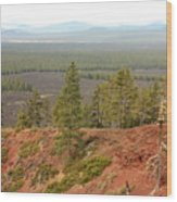 Oregon Landscape - View From Lava Butte Wood Print