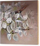 Oriental Pear Blossom Wood Print