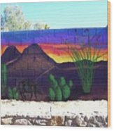 Outside Mural Wood Print