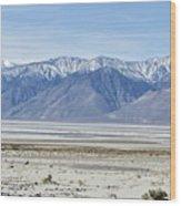 Owens Dry Lake Wood Print