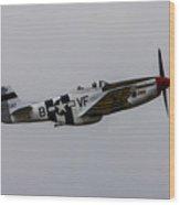 P-51d Mustang Wood Print