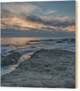 Pacific Grove Sunset Wood Print