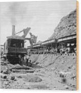 Panama Canal - Construction - C 1910 Wood Print